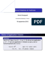 Applications Matrices