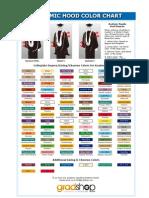 Academic Hood Degree Color Chart