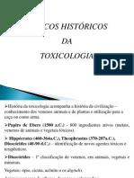 História da toxicologia e conceitos básicos-aula 1