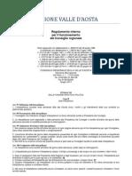 27. Regolamento Interno Consiglio Valle d'Aosta 2011- 7. Titolo - 2 Capo