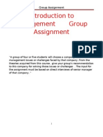 Assignment Group V