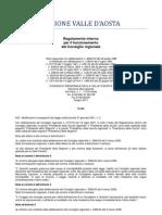 31. Regolamento Interno Consiglio Valle d'Aosta 2011- Note