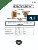 01 CMM-0023 POE Cambio de Concavos de Chancadora Primaria