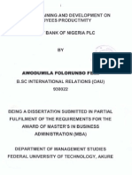 Impact of Trainning and Development on Employees Productivity in First Bank of Nigeria Plc Mba 2006 by Awodumila Folorunso F_new1