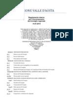 33. Regolamento Interno Consiglio Valle d'Aosta 14.07.2010