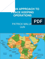African Approach to Peace Keeping Operations