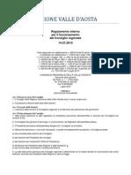 34. Regolamento Interno Consiglio Valle d'Aosta 14.07.2010 - Titolo 1