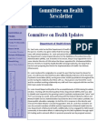Committee on Health Newsletter, June 2013