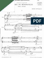 Dutilleux - Figures de Résonances for Two Pianos