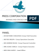 Pcl Business and Strategy Briefing