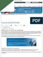 Curso de AutoCAD 3D 2006, Lección 3_ Modificación del sistema de coordenadas