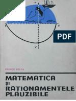 Polya Matematica Si Rationamentele Plauzibile 1(2)
