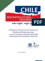 Chile Descentralizado... Desarrollado