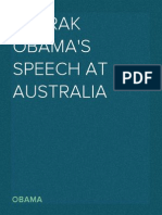 Barrak Obama's Speech at Australia