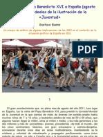 Gustavo Bueno -  La visita del Papa Benedicto XVI a España (agosto 2011) y los ideales de la ilustración de la Juventud, El Catoblepas, setiembre 2011