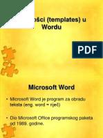 Predlosci (Templates) u Wordu 18