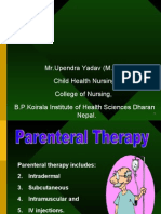 Parenteral Medication