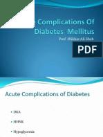 Acute Complications of DM