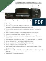 Mercedes W220 Automatic Climate Control Service Menu Version 4 | Air