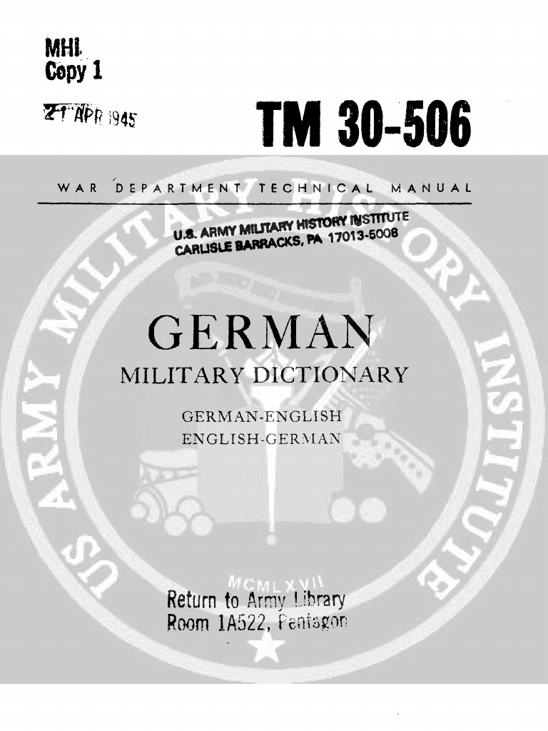 TM 30-506 | Anchor | Artillery