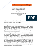 Henri Poincaré - des mathématiques à la philosophie