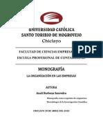 Monografia de Organizacion