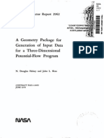 Geometry Package for Generation of Input Data for a Three-Dimensional Potential-Flow Program