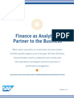 Finance as Analytical Partner to the Business