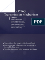 Group 6 -Monetqary Policy Transmission Mechanism
