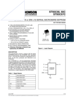 This specification covers a range of 2K bit serial EEPROM products, the ST93C56, 56C specified at 5V± 10% and the ST93C57C specified at 3V to 5.5V. In the text, products are referred to as ST93C56.