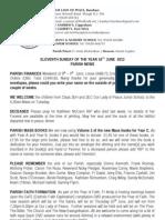 Parish Bulletin - 16th June 2013