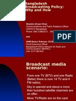 Bangladesh Broadcasting Policy Final