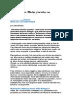 HOMEOPATIA Efeito biológico ou placebo - Alex Botsaris - Medicina Complementar