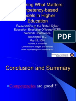 Competency Based Models in Higher Education