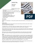 CROCHET - Maggie Petsch - Zebra Print Shoulder Bag