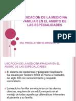 UBICACIÓN DE LA MEDICINA FAMILIAR EN EL AMBITO