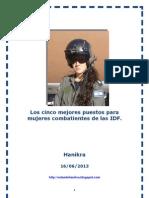 Los Cinco Mejores Puestos Para Mujeres Combatientes de Las IDF