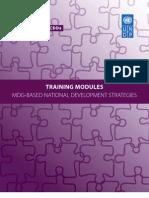 TRAINING MODULES MDG-BASED NATIONAL DEVELOPMENT STRATEGIES