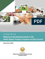Training Report Millennium Development Goals in the SAARC Region