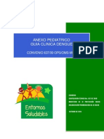 Anexo pediátrico - Guía clinica del dengue