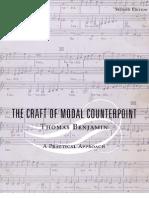 The Craft of Modal Counterpoint Thomas Benjamin