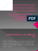 CLASIFICAION DE LOS LUBRICANTES SEGÚN EL ESTADO DE LA MATERIA (1)