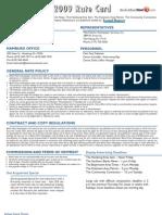 BerksMont News 2009 advertising Rate Card