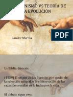 CREACIONISMO VS TEORÍA DE LA EVOLUCIÓN