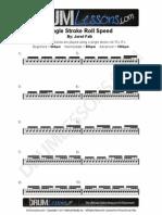 129 Single Stroke Roll Speed