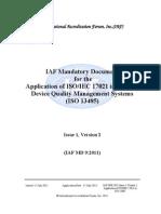 IAFMD92011ApplicationofISO17021inMDQMSIssue1v2Pub
