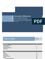UMN's Huron Administrative Services Benchmarking and Diagnostic Study
