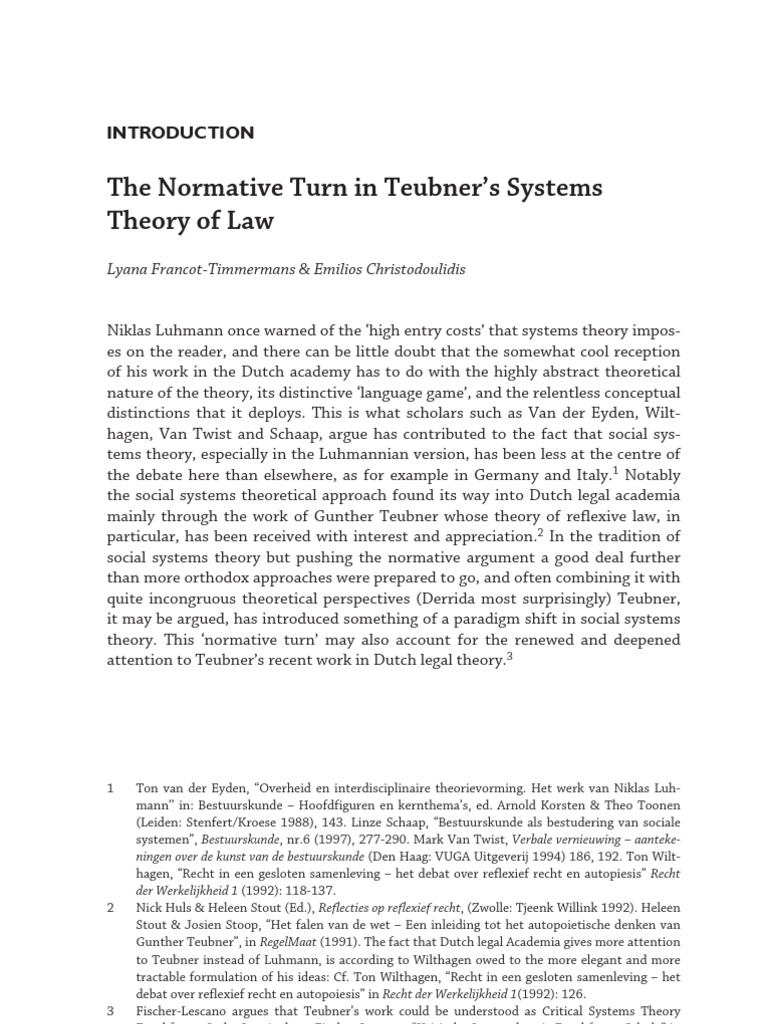 The normative subsystem of the political system - what is it
