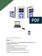 Twelve Channel Holter ECG-EKG Monitoring Recorder Machine