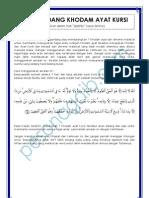 Ilmu Mengundang Khodam Ayat Kursi
